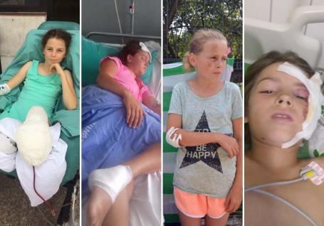 Cazul surorilor Toma, victimele accidentului din faţa Poliţiei Rutiere: Doar micuţa cu piciorul amputat a rămas în spital