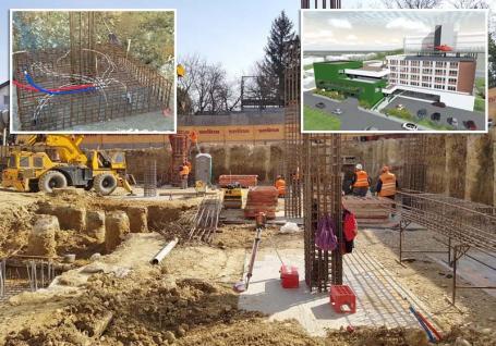 Urgenţe cu economii: Noua Unitate de Primire a Urgenţelor va fi prima instituţie publică din Oradea cu fundaţie termică (FOTO)