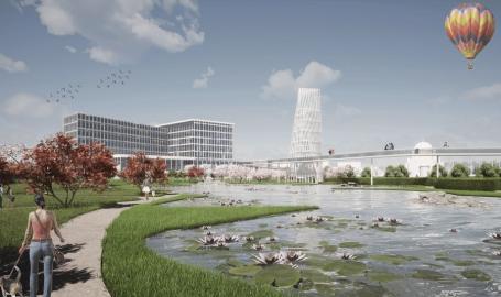 Cum va arăta grădina botanică în aer liber din Oradea, cu puncte de belvedere dintr-un turn de 27 de metri (FOTO)