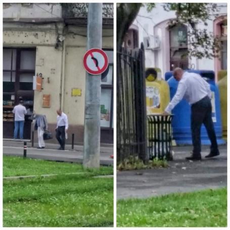 Primarul Ilie Bolojan, fotografiat într-o ipostază mai puțin obișnuită