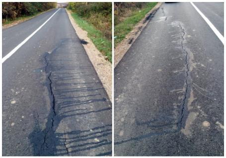 Drumul judeţean 191 B din Popeşti, asfaltat în vară, este deja distrus. Mang: 'Dacă e aşa, e foarte grav' (FOTO)