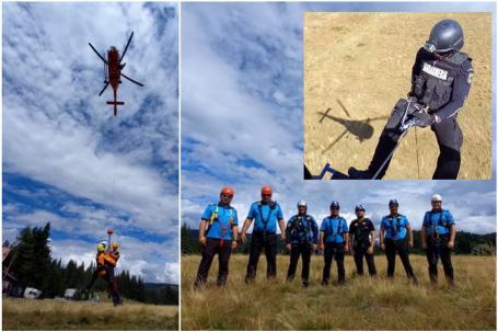 Trupele speciale au băgat spaima în mai mulţi bihoreni. Operaţiune spectaculoasă pe DN 76 şi în Padiş, cu elicoptere, simulări de asalt şi coborâre în rapel (FOTO / VIDEO)